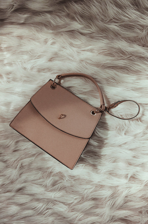 Nude In Tune Faux Leather Tote