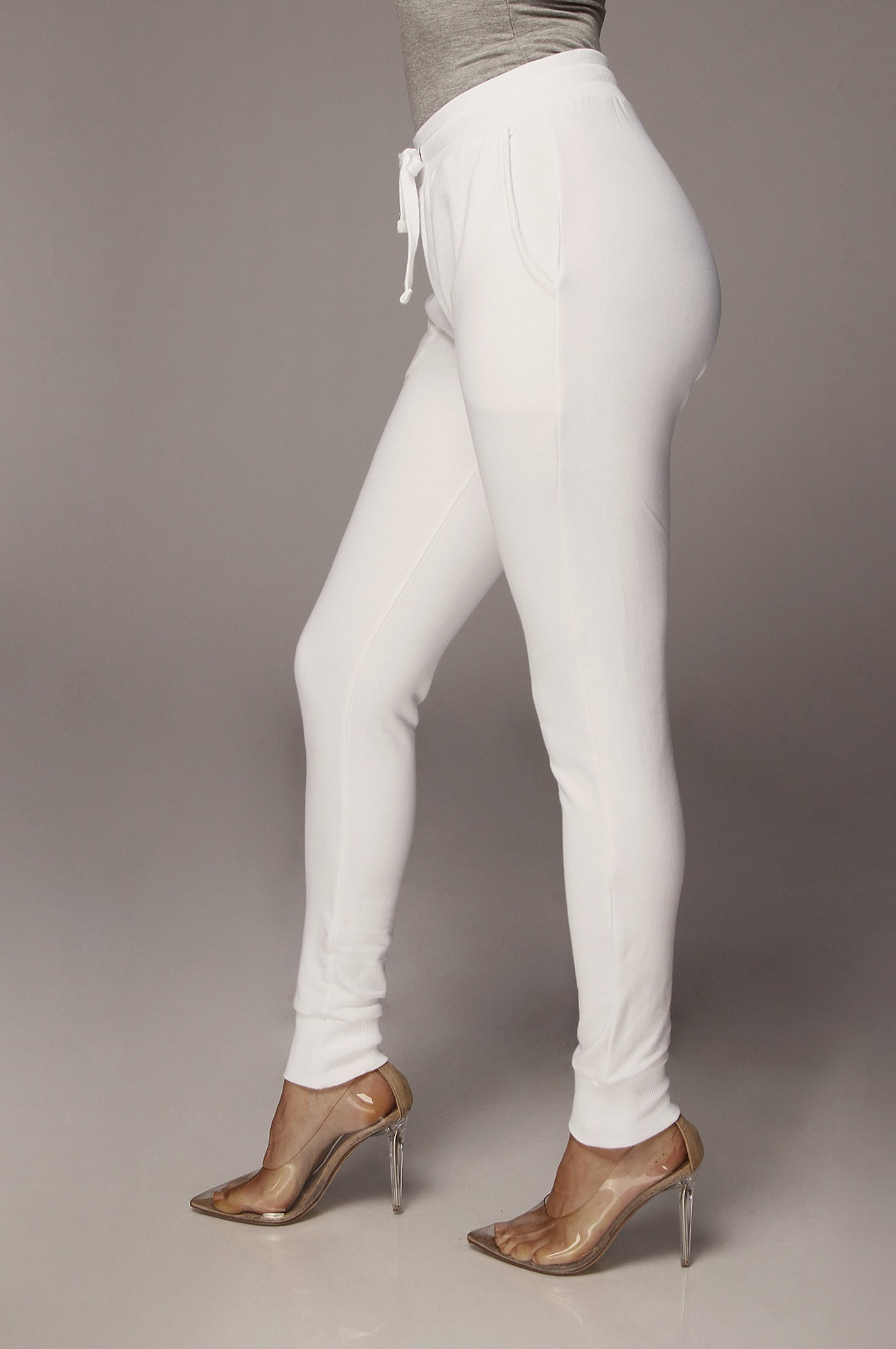 White Karlie Jogger Sweatpants