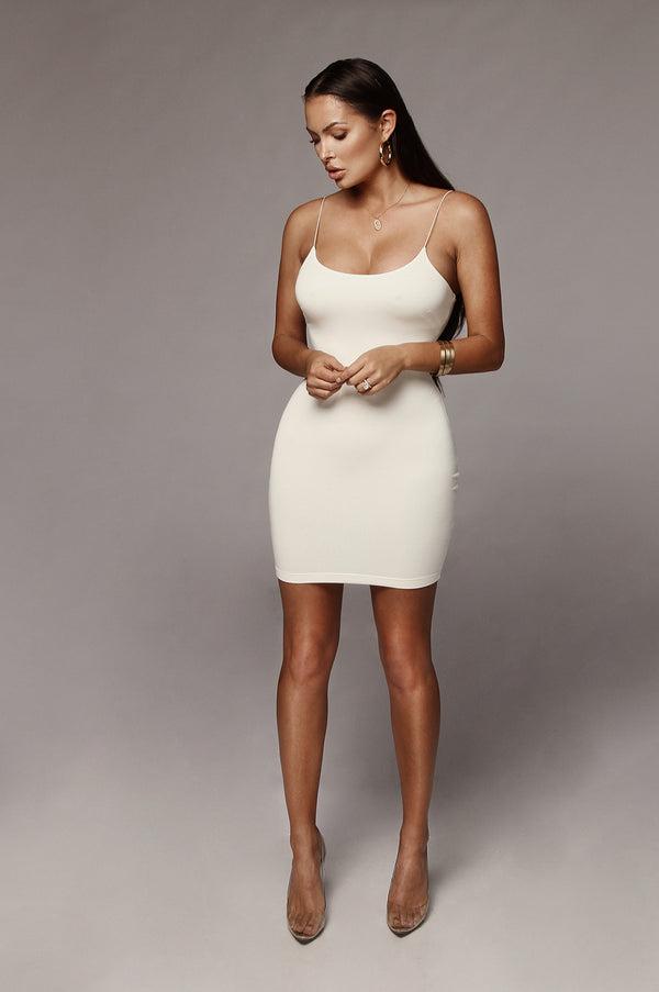 Ivory Amaria JLUXBASIX Mini Dress