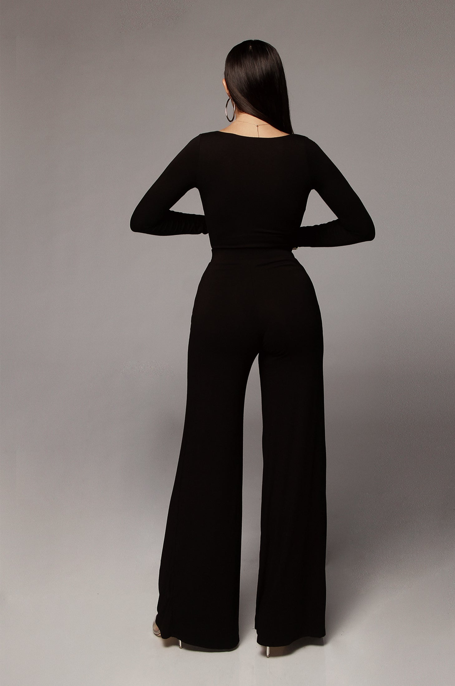 BLACK JOCELYN JLUXBASIX WIDE LEG PANT
