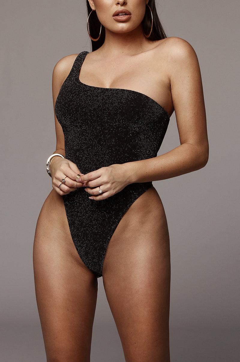 Black Melanie Sparkle Bodysuit