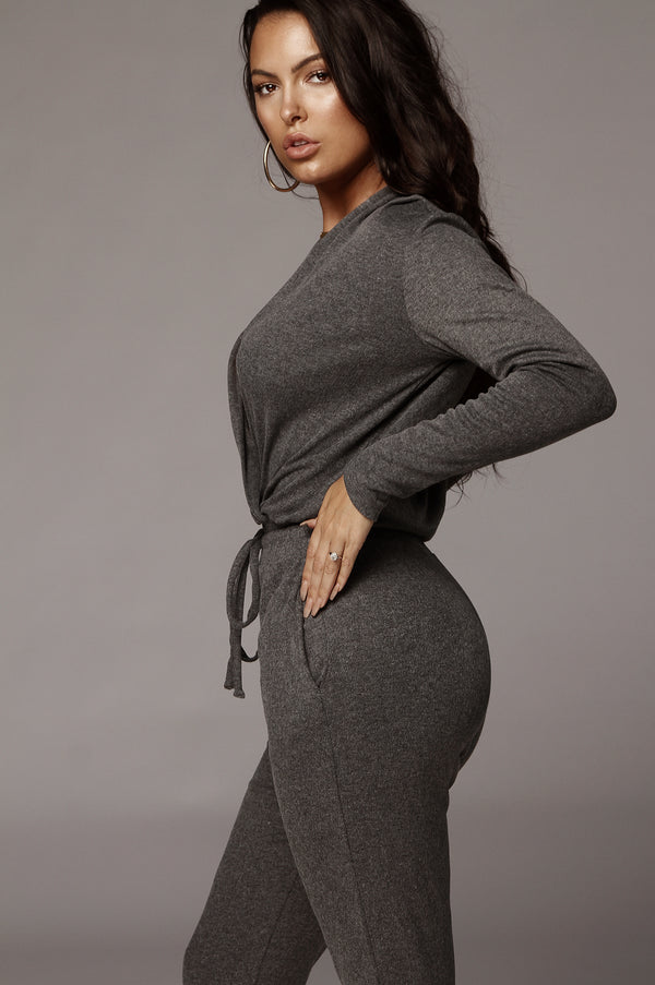 Grey Madison Cozy Jumpsuit