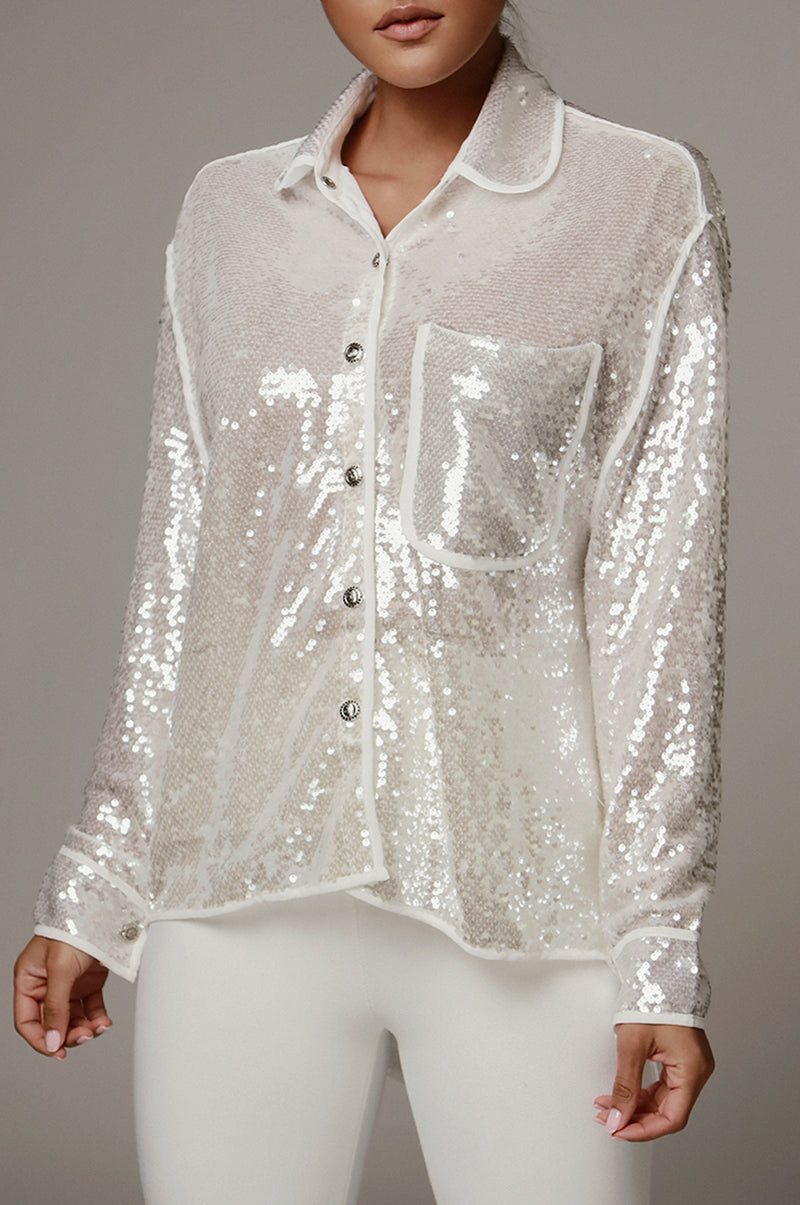 Lively Sequin Top