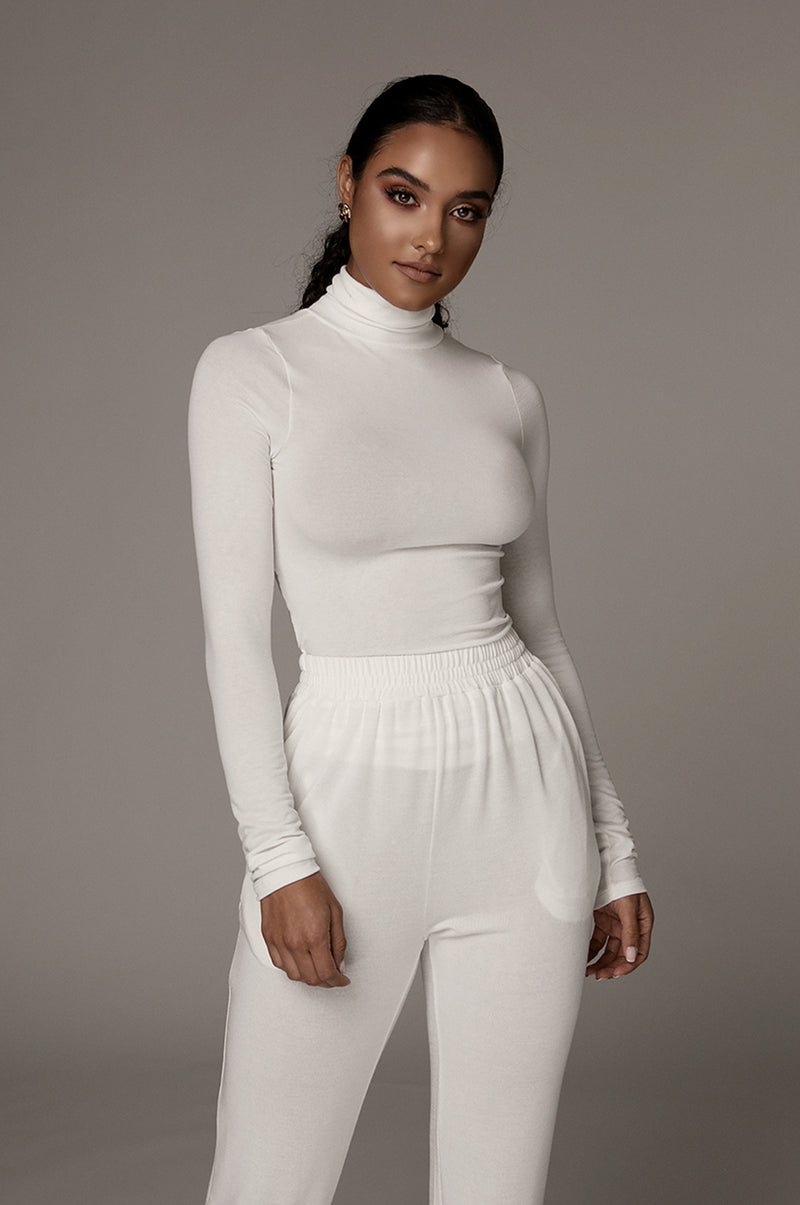 Ivory Classic Turtle Neck Top