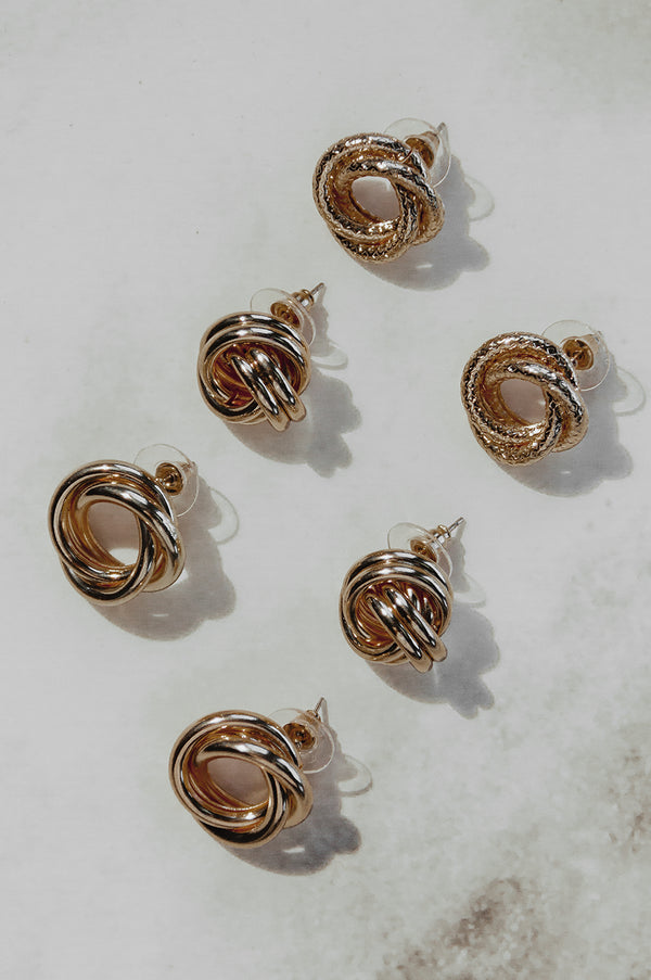 Knotted 3 Earring Pack
