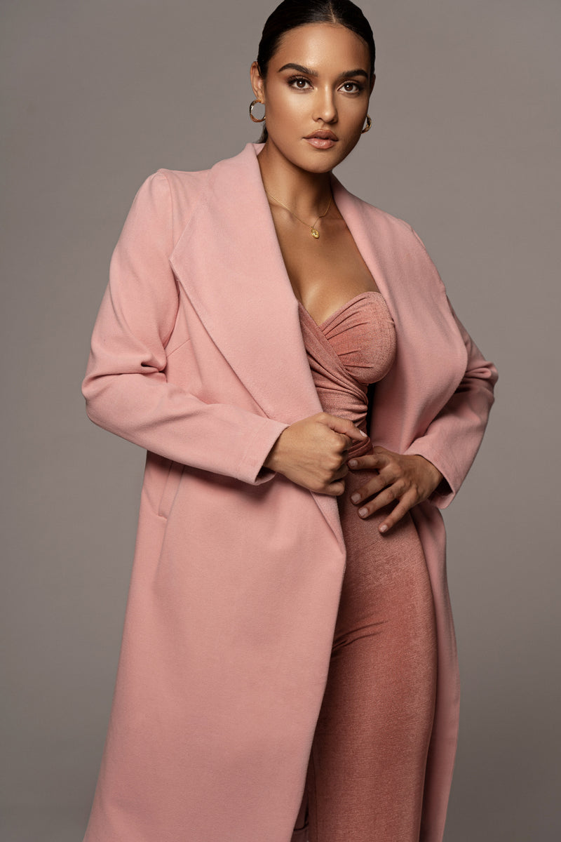 Dusty Pink Natalie Tailored Coat