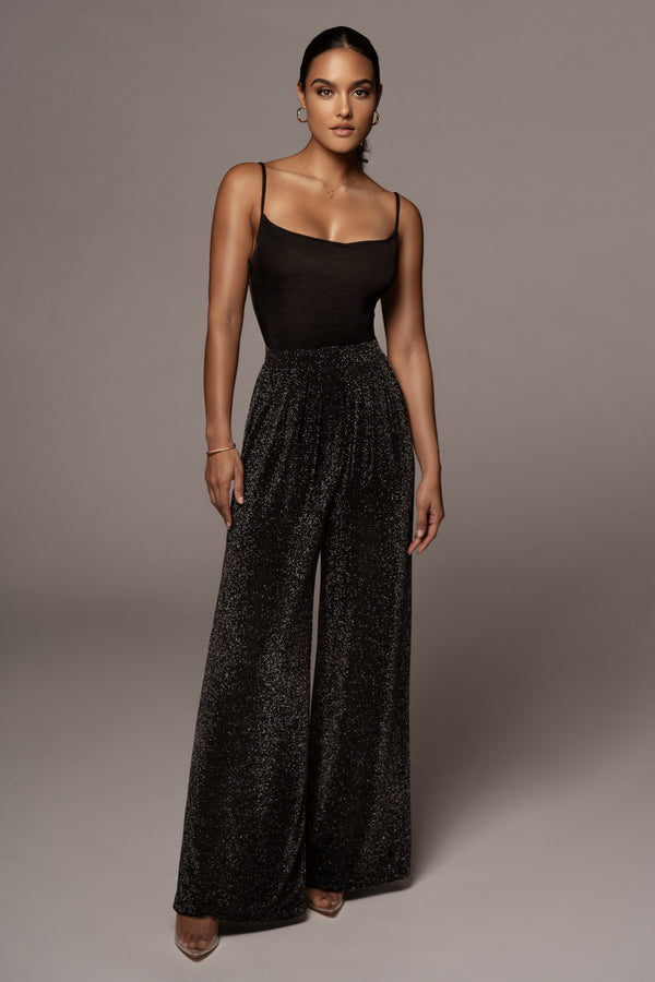 BLACK KASHIA WIDE LEG PANTS
