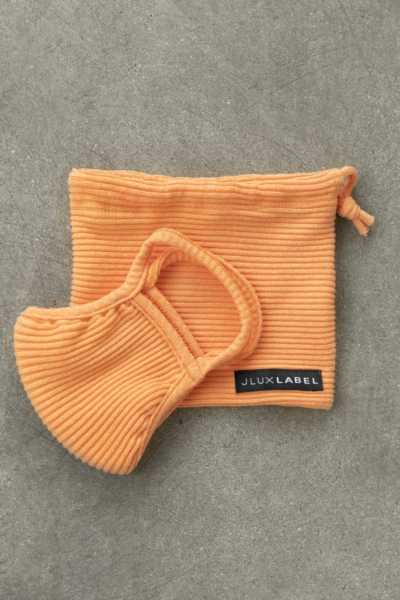ORANGE EXCLUSIVE RIBBED MASK
