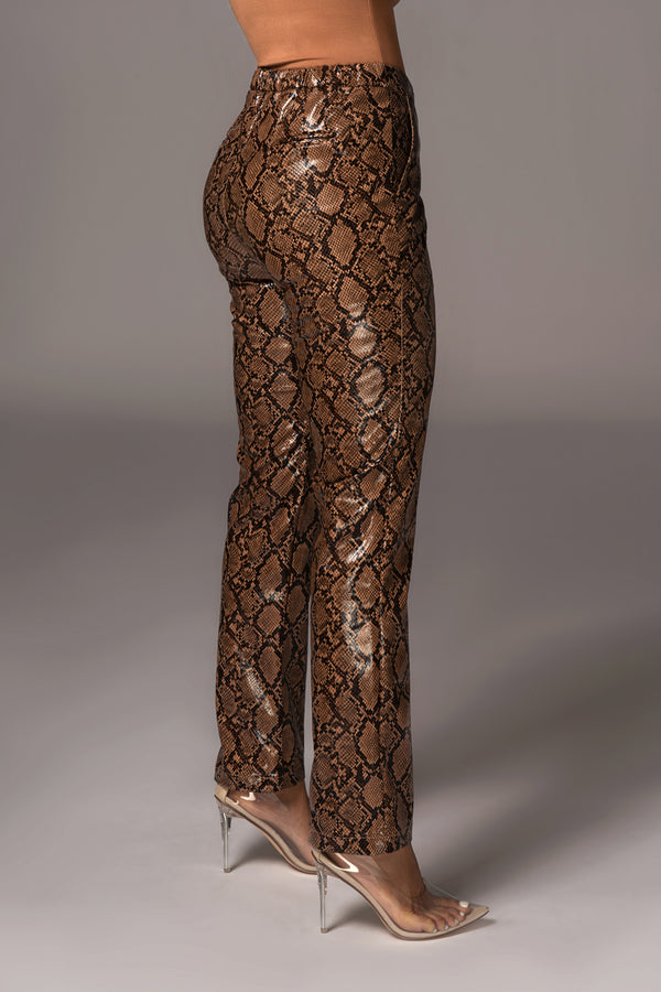 SNAKEPRINT EDIN PANTS
