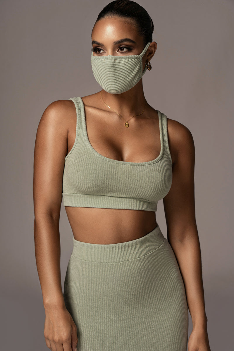 SAGE EXCLUSIVE RIBBED MASK