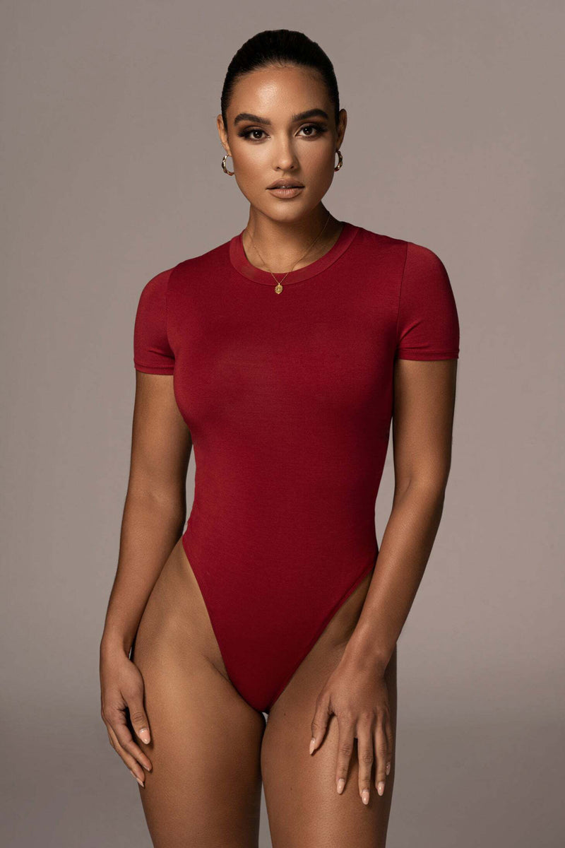 JLUXBASIX RED IDEAL BODYSUIT