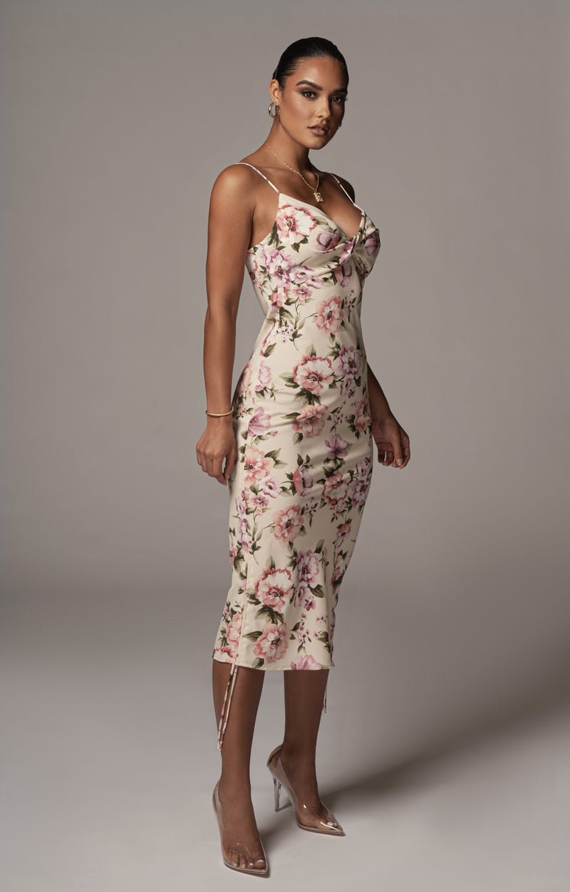 FLORAL RESORT SLIP DRESS