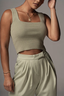 SAGE ISLA SQUARE NECK TOP