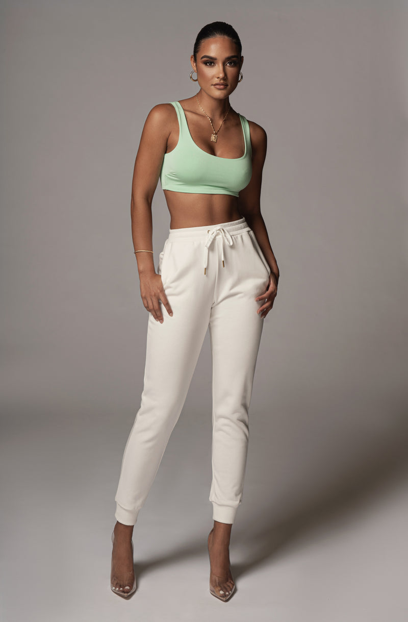 JLUXBASIX MINT ELISE CROP TOP