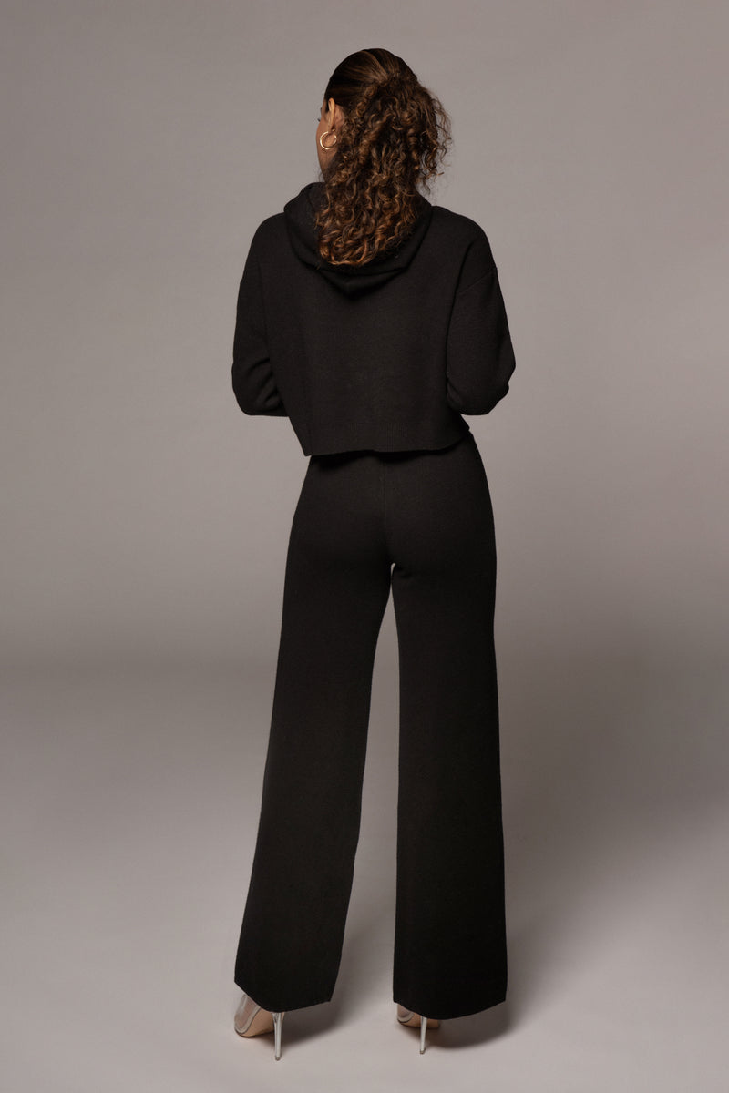 BLACK FAYETTE SWEATER PANT