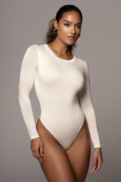 IVORY YARA EVERYDAY SOLID BODYSUIT