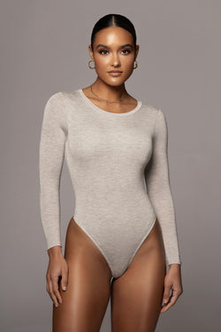 GREY YARA EVERYDAY SOLID BODYSUIT