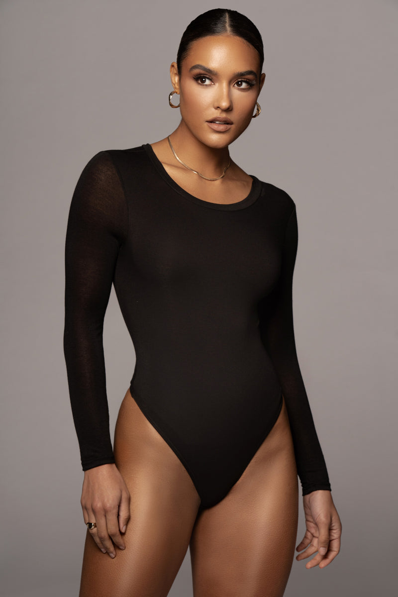 BLACK YARA EVERYDAY SOLID BODYSUIT