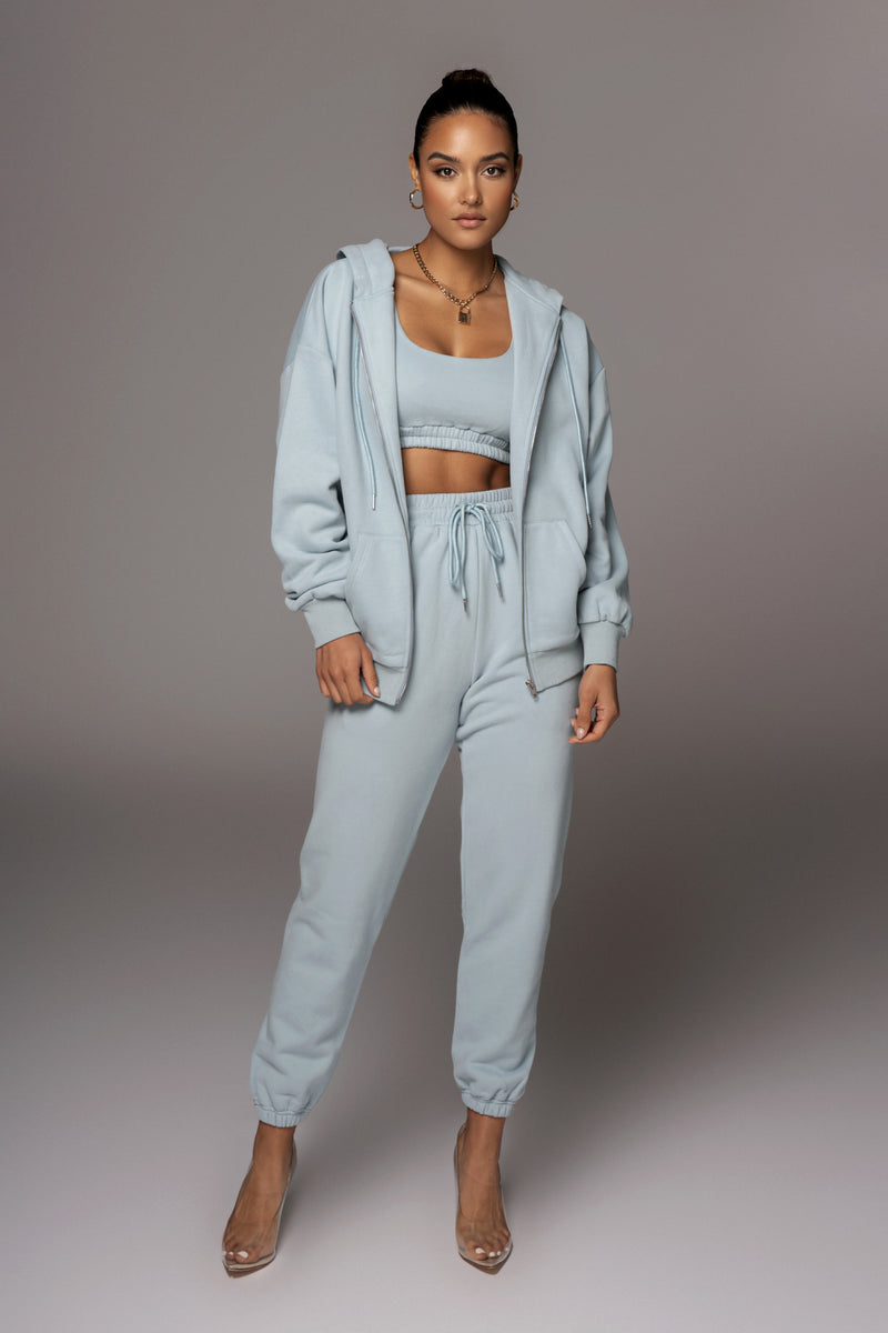 SKY BLUE UNISEX ABELLA ZIP UP