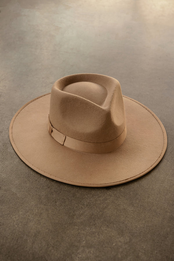 TAN JOEY WOOL HAT