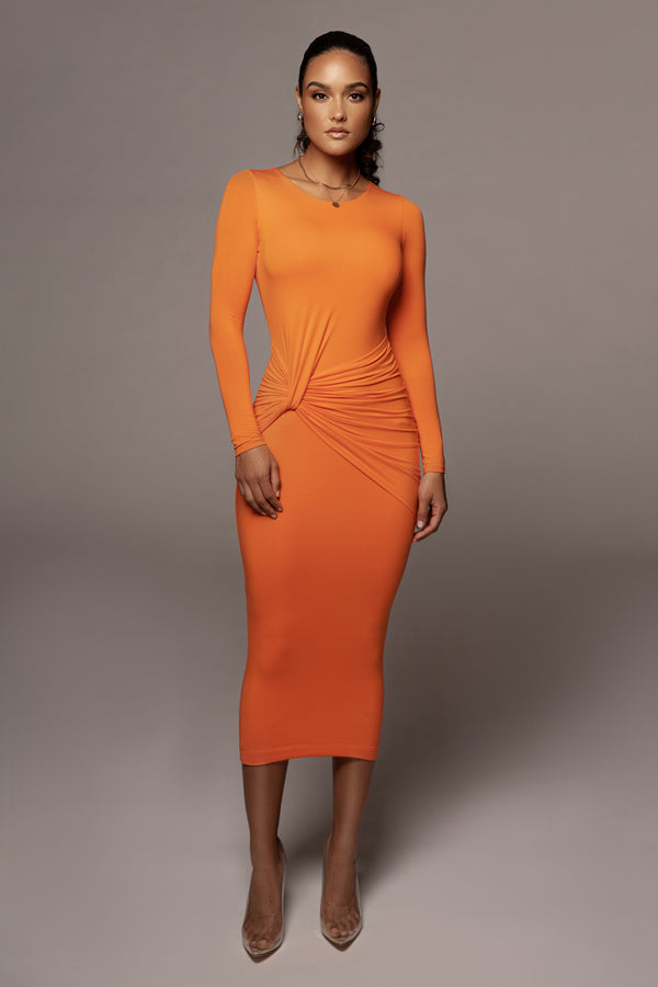 Orange Janice Detailed Dress