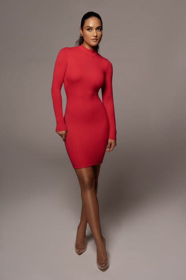 RED CALLIE BODYCON DRESS