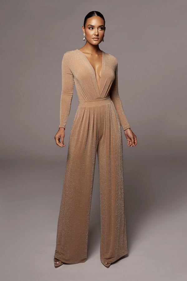 TAN KASHIA WIDE LEG PANTS