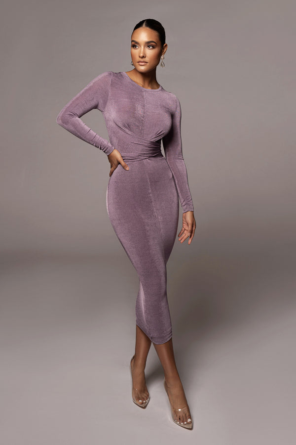 PURPLE VIDA FRONT TIE DRESS