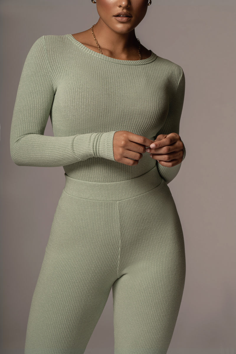 SAGE OMEN RIBBED BODYSUIT