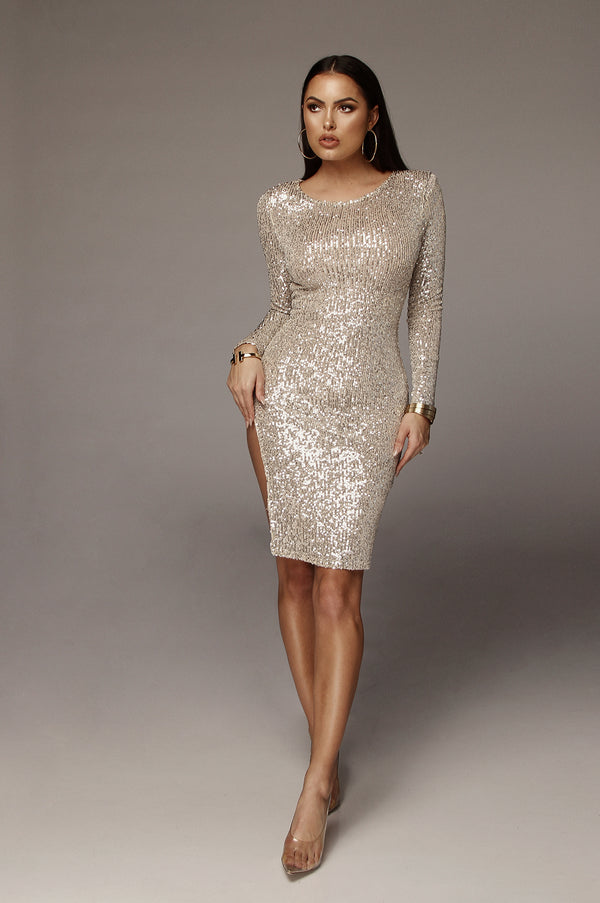 Silver Onyx Sequence Dress