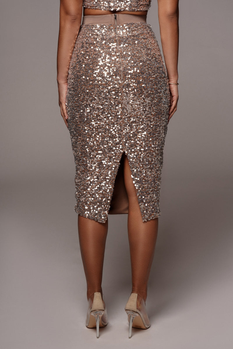 MARLA SEQUIN PENCIL SKIRT