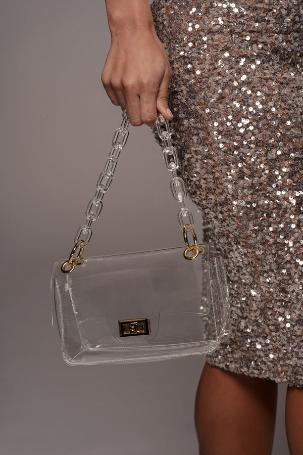 CLEAR FORBIDDEN LOVE HANDBAG:O