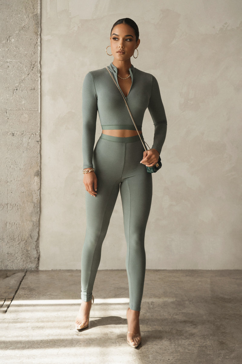 GREEN KARLA ATHLEISURE SET