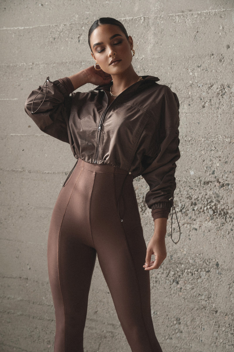 CHOCOLATE MIREIA RIBBED JUMPSUIT