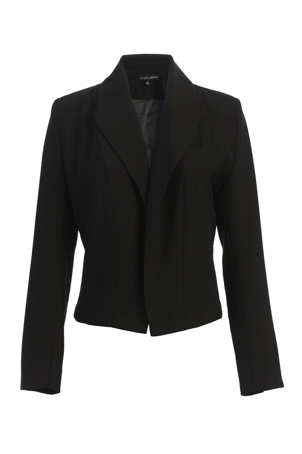 BLACK ADEL CROPPED BLAZER