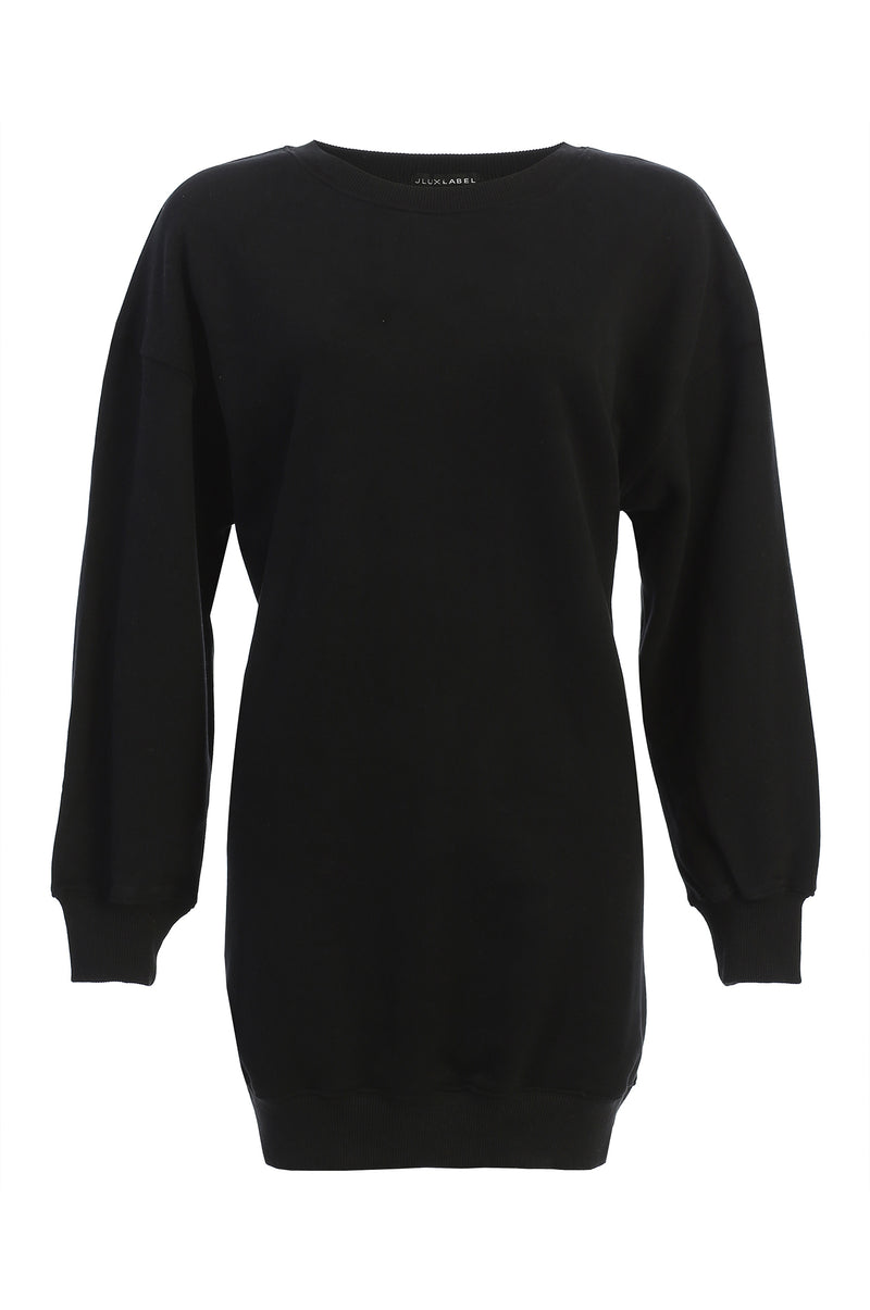 BLACK UNISEX LEDA OVERSIZED SWEATSHIRT