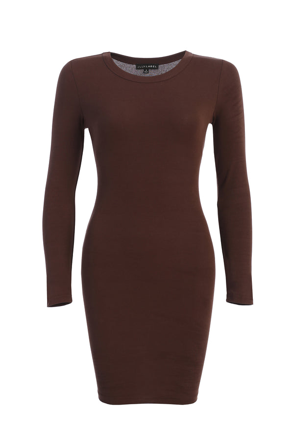 COCO BROWN SO SMOOTH FITTED DRESS
