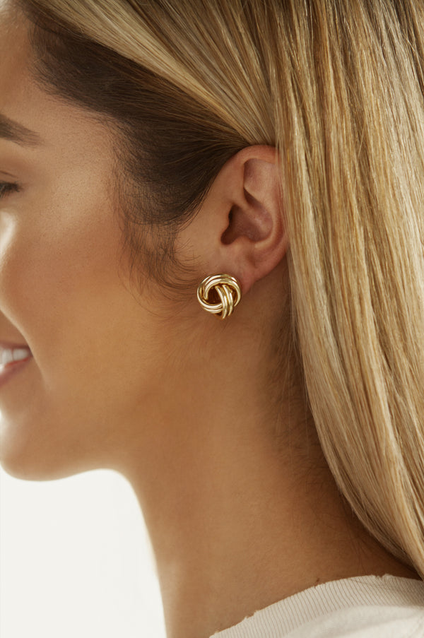 Gold Twisted Studs