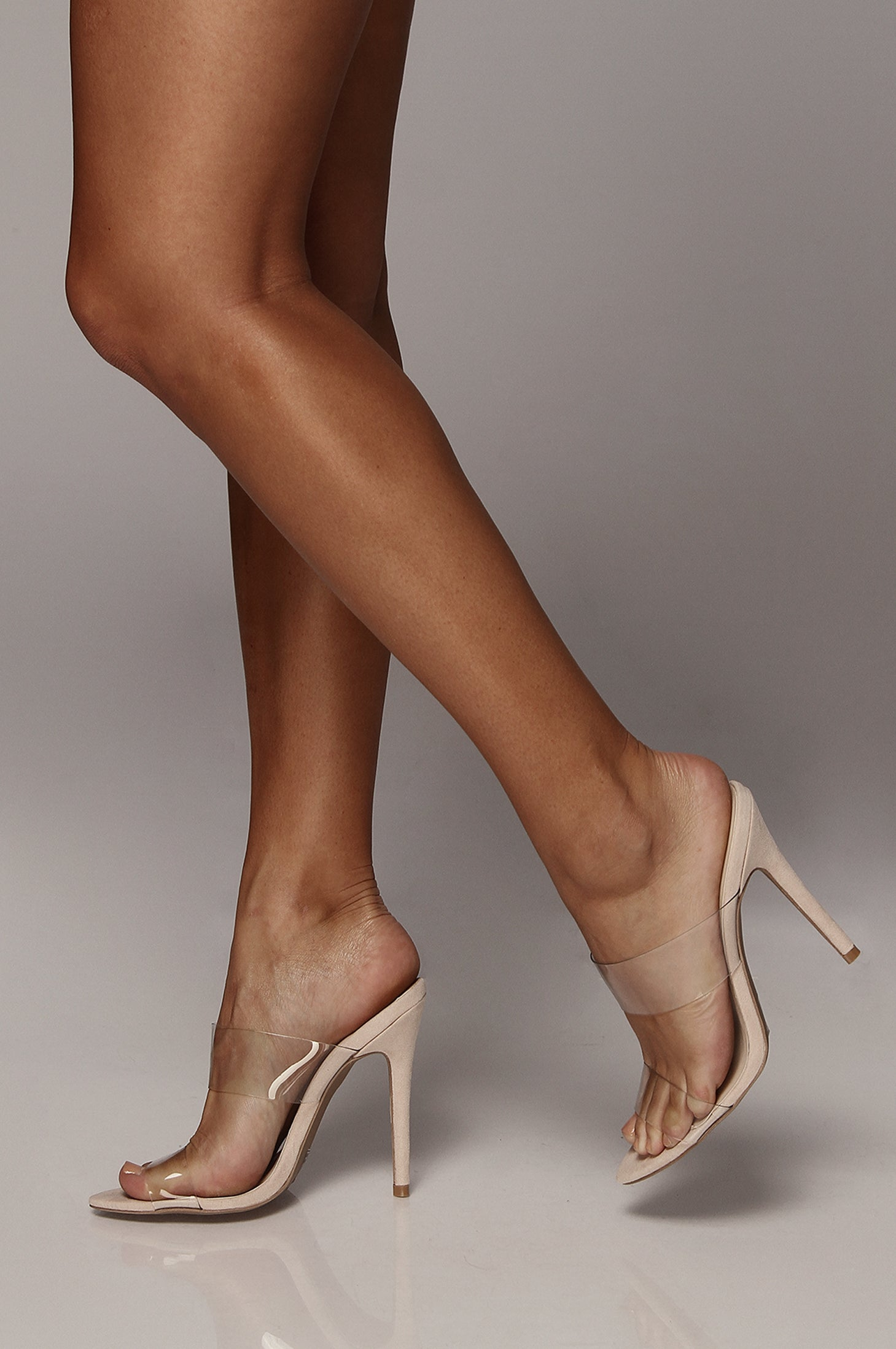 Frasier Blush Clear Heels