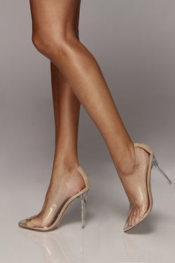 Glass Doll Clear Pumps