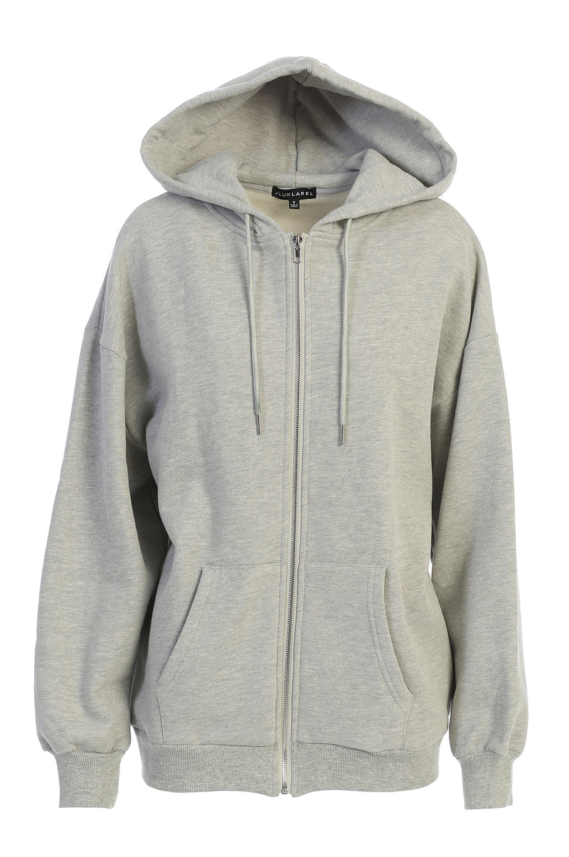 GREY UNISEX ABELLA ZIP UP
