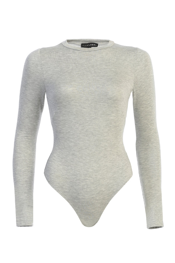HEATHER GREY JANAY SIMPLE BODYSUIT
