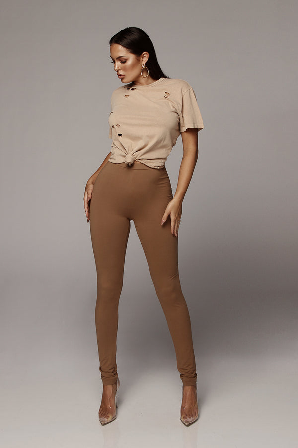 Mocha JLUXBASIX Soft Leggings