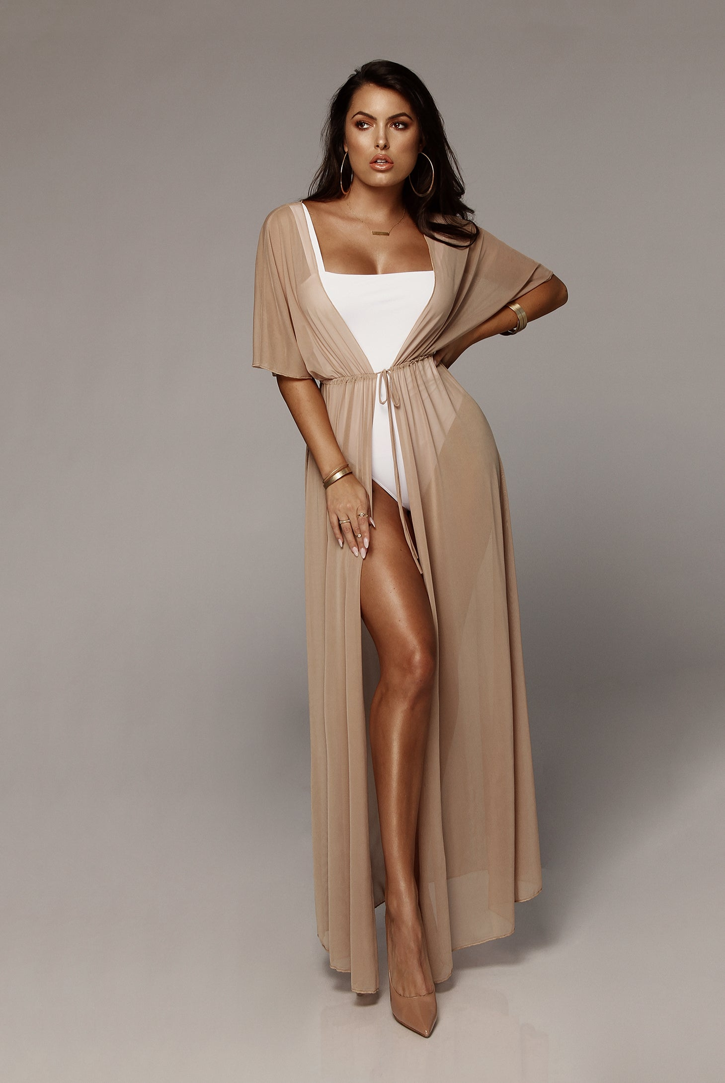 Mesh Maeve Duster Cover Up