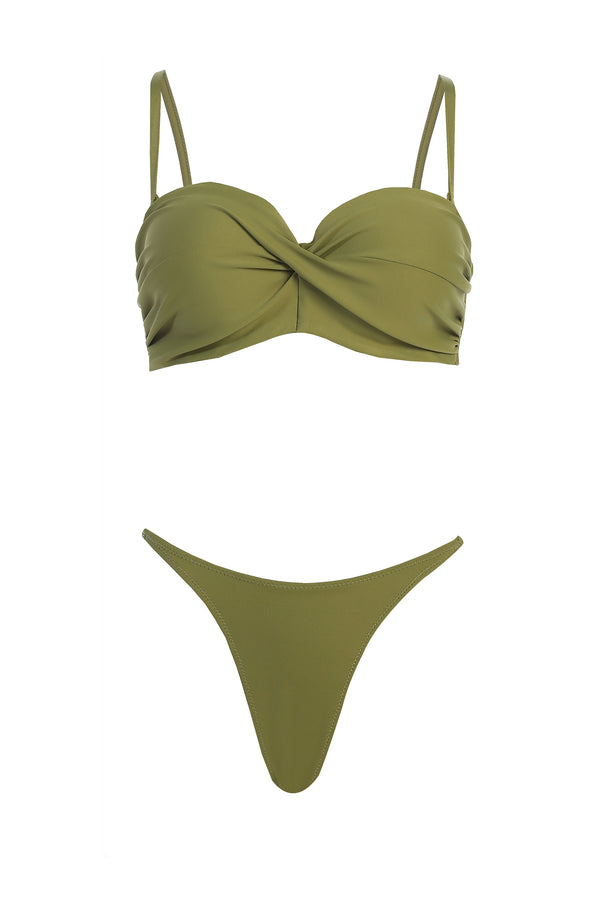 OLIVE DALI TWISTED BIKINI SET