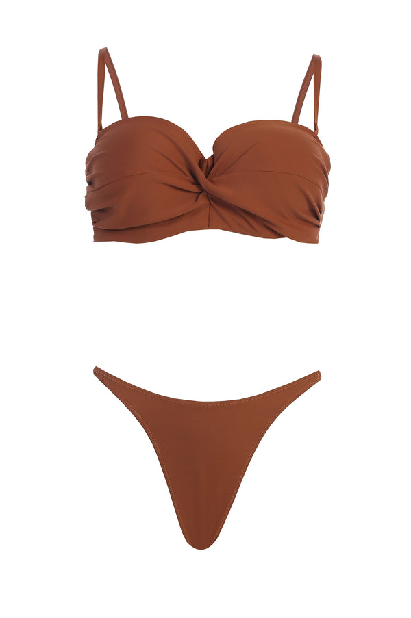 PECAN DALI TWISTED BIKINI SET