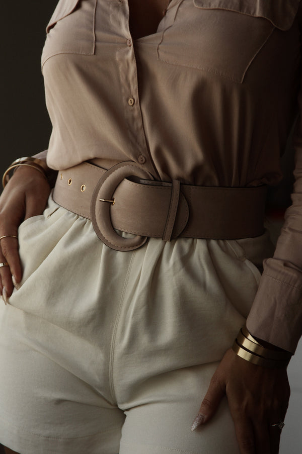 Wood Rose JLUXLABEL Suede Thick Belt