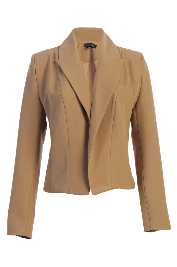 TAN ADEL CROPPED BLAZER