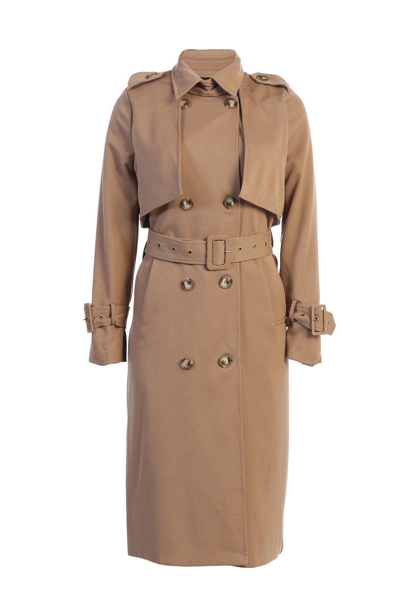 TAN ALLIE TRENCH COAT