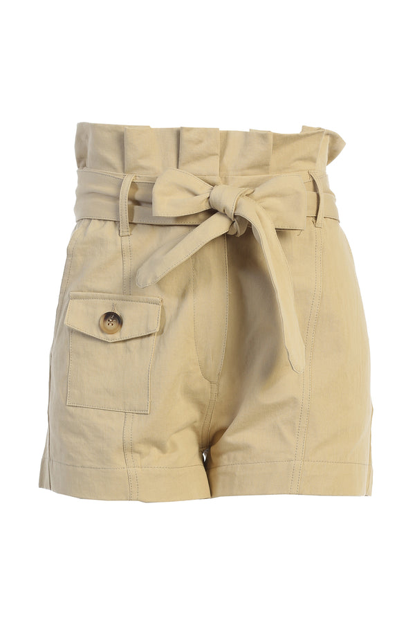 TAN COLLECTIVE PAPERBAG SHORTS